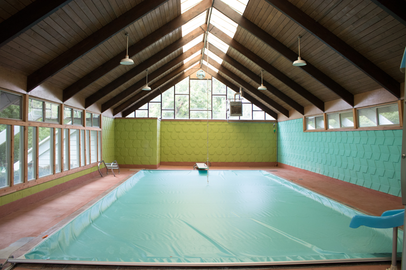 1950's indoor pool house before